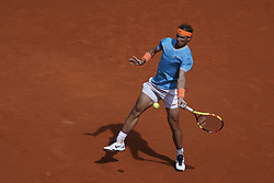 May 8, 2019 - Madrid, Spain - Rafael Nadal of Spain against Felix Auger-Aliassime of Canada during day five of the Mutua Madrid Open at La Caja Magica on May 08, 2019 in Madrid, Spain. (Credit Image: © Oscar Gonzalez/NurPhoto via ZUMA Press)