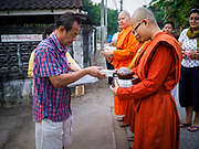13 JANUARY 2019 - NAKHON PATHOM, THAILAND:  The Sangha Supreme Council, Thailand's governing body of Buddhist monks, bans the ordination of women, but hundreds of Thai women have gone abroad, mostly Sri Lanka and India, to be ordained. There are about 270 women monks in Thailand and about 250,000 male monks. There are 7 monks and 6 novices at Wat Songdhammakalyani in Nakhon Pathom. It was the first temple in Thailand to have female monks.      PHOTO BY JACK KURTZ