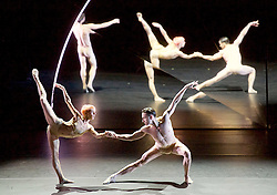 Compnay Wayne McGregor & Paris Opera Ballet's <br /> Tree of Codes <br /> a collaboration by Wayne McGregor, Olafur Eliasson & Jamie XX <br /> at Sadler's Wells, London, Great Britain <br /> rehearsal 3rd March 2017 <br /> using die-cut images from Jonathan Safran Foer's novel, supported by the Monument Trust <br /> <br /> Company Wayne McGregor <br /> Catarina Carvalho<br /> Travis Clausen-Knight <br /> Alvaro Dule<br /> Louis McMiller<br /> Daniela Neugebauer <br /> James Pett <br /> Fukiko Takase<br /> Po-Lin Tung<br /> Jessica Wright <br /> <br /> Paris Opera Ballet <br /> Marie-Agnes Gillot <br /> Jeremie Belingard<br /> Lydie Vareilhes<br /> Sebastien Bertaud <br /> Julien Meyzindi <br /> Lucie Fenwick <br /> <br /> Photograph by Elliott Franks <br /> Image licensed to Elliott Franks Photography Services