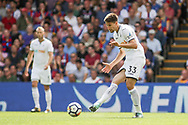 Federico Fernandez of Swansea city in action.<br /> Premier League match, Crystal Palace v Swansea city at Selhurst Park in London on Saturday 26th August 2017.<br /> pic by Kieran Clarke, Andrew Orchard sports photography.