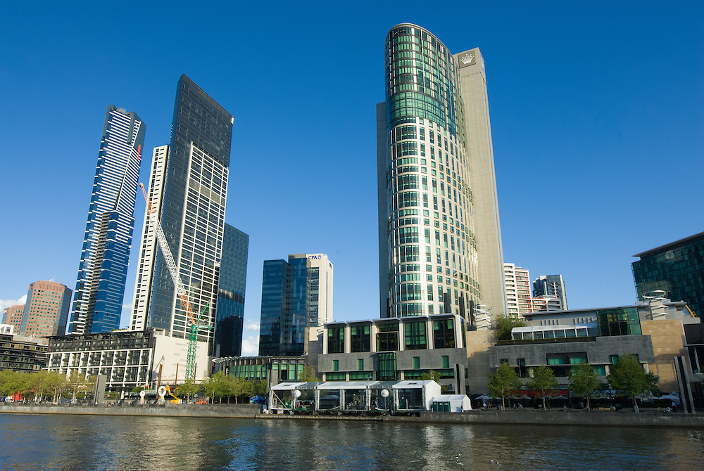 Office Towers in Southbank Precinct, Melbourne.