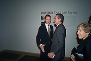 SIR NICHOLAS SEROTA; ARNE GLIMCHER, Mark Rothko private view. Tate Modern. 24 September 2008 *** Local Caption *** -DO NOT ARCHIVE-© Copyright Photograph by Dafydd Jones. 248 Clapham Rd. London SW9 0PZ. Tel 0207 820 0771. www.dafjones.com.