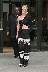 Rosie Huntington-Whiteley seen leaving her hotel in SoHo, New York City. 04 Jun 2018 Pictured: Rosie Huntington-Whiteley. Photo credit: MEGA TheMegaAgency.com +1 888 505 6342