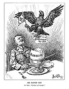 "His Easter Egg. The Fuhrer. ""Excellent - all through!"" (A German eagle has emerged happily from Hitler's Easter Plebiscite egg, holding ""Grossdeutschland uber alles!"")"