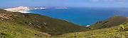 Panoramic view of Cape Reinga, Northland, New Zealand.