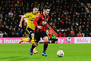 Lewis Cook (16) of AFC Bournemouth on the attack during the The FA Cup match between Bournemouth and Arsenal at the Vitality Stadium, Bournemouth, England on 27 January 2020.