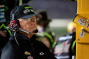 Joe Gibbs of Joe Gibbs Racing watches one of his drivers, Kyle Busch (18) during final laps of the Sprint Cup NRA 500 at Texas Motor Speedway in Fort Worth on Saturday, April 13, 2013. Busch won both races at Texas Motor Speedway this weekend. (Cooper Neill/The Dallas Morning News)