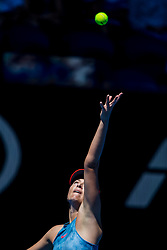 January 14, 2019 - Melbourne, VIC, U.S. - MELBOURNE, AUSTRALIA - JANUARY 14 : Maria Sharapova of ÊRussia serves the ball during day 1 of the Australian Open on January 14 2019, at Melbourne Park in Melbourne, Australia.(Photo by Jason Heidrich/Icon Sportswire) (Credit Image: © Jason Heidrich/Icon SMI via ZUMA Press)