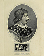 Charles VIII of France Charles VIII, called the Affable (French: l'Affable; 30 June 1470 – 7 April 1498), was King of France from 1483 to his death in 1498. He succeeded his father Louis XI at the age of 13.[1] His elder sister Anne acted as regent jointly with her husband Peter II, Duke of Bourbon[1][2] until 1491 when the young king turned 21 years of age. Copperplate engraving From the Encyclopaedia Londinensis or, Universal dictionary of arts, sciences, and literature; Volume VII;  Edited by Wilkes, John. Published in London in 1810