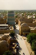 genral view on the old city and KALTA - Guyok- minaret   KHIVA  Ouzbekistan  .///.vue generale sur la vielle ville et Kalta -Guyok - minaret   KHIVA  Ouzbekistan .///.OUZB56329