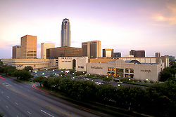 Stock photo of the Houston Galleria and the Williams Tower.