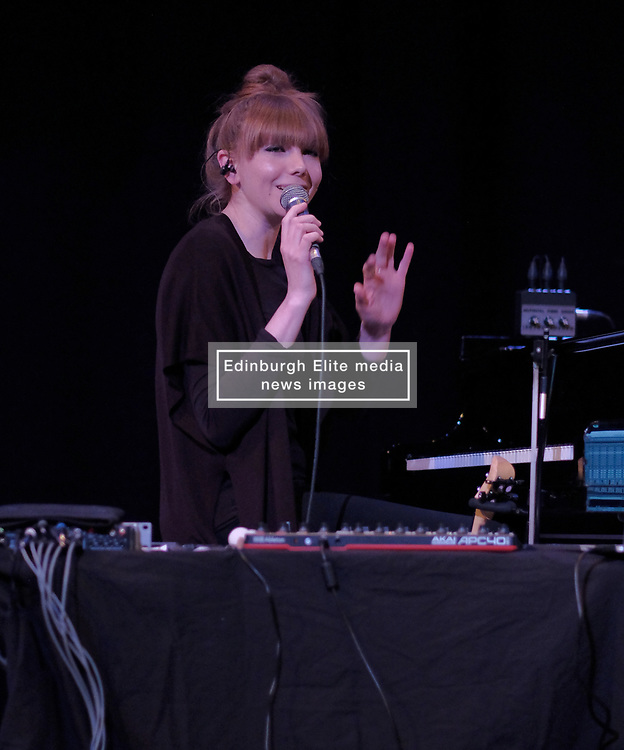 Poppy Ackroyd Performance, Friday 11th May 2018<br /> <br /> Poppy Ackroyd is a performer and composer from London, currently based in Brighton. Classically trained on violin and piano from an early age, she studied piano and composition at Edinburgh University before completing a masters degree in Piano Performance. <br /> <br /> In 2017 she signed to Bjork's label One Little Indian.<br /> <br /> The support act was Maria Rossi from Glasgow performing under the alias Cucina Povera.<br /> <br /> Pictured: Poppy Ackroyd<br /> <br /> (c) Alex Todd   Edinburgh Elite media