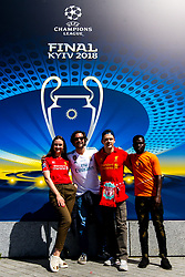 Liverpool and Real Madrid fans pose for a picture outside the Olympic Stadium in Kiev ahead of the Champions League Final - Mandatory by-line: Robbie Stephenson/JMP - 26/05/2018 - FOOTBALL - Olympic Stadium - Kiev,  - Real Madrid v Liverpool - UEFA Champions League Final