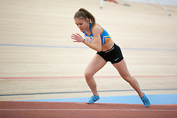 Lea Holc competes during day 2 of Slovenian Athletics Indoor Championships 2020, on February 23, 2020 in Novo mesto, Slovenia. Photo by Peter Kastelic / Sportida