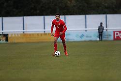 BANGOR, WALES - Tuesday, November 20, 2018: Wales' Ben Cabango during the UEFA Under-19 Championship 2019 Qualifying Group 4 match between Wales and San Marino at the Nantporth Stadium. (Pic by Paul Greenwood/Propaganda)