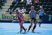 Alex Danson. England v Argentina, Lee Valley Hockey and Tennis Centre, London, England on 10 June 2017. Photo: Simon Parker