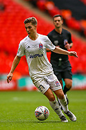 AFC Flyde midfielder Nick Haughton (27) during the FA Trophy final match between AFC Flyde and Leyton Orient at Wembley Stadium on 19 May 2019.