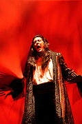 Gaston De Cardenas/El Nuevo Herald -- In a scene from act II of the Florida Grand Opera production of Mozart's Don Giovanni. Don Giovanni played by Ned Barth refuses to repent and change his lustful ways and his is comsumed in flames and the sinner is dragged to hell.