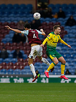 Football - 2019 / 2020 Emirates FA Cup - Fourth Round: Burnley vs. Norwich City<br /> <br /> Jack Cork of Burnley wins his aerial duel against Tom Trybull of Norwich City, at Turf Moor.<br /> <br /> COLORSPORT/ALAN MARTIN