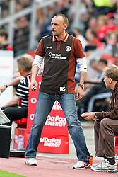 10.04.2011,  BayArena, Leverkusen, GER, 1. FBL, Bayer Leverkusen vs FC St. Pauli, 29. Spieltag, im Bild: Holger Stanislawski (Trainer St. Pauli)  EXPA Pictures © 2011, PhotoCredit: EXPA/ nph/  Mueller       ****** out of GER / SWE / CRO  / BEL ******