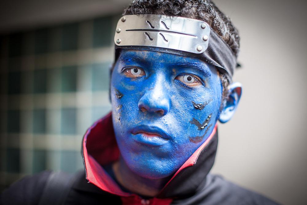 Personaje del manga Naruto en la Convencion Avalancha de Venezuela que reune a otakus, cosplayers, fanaticos de la ciencia ficcion, comics, anime, mangas y juegos. Caracas, del 9 al 18 de agosto de 2013. (Foto / ivan Gonzalez)