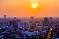 Sunset, Downtown Bangkok, Bangkok, Thailand