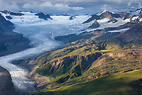 Aerial view of the Wrangell Range, Wrangell-St. Elias National Park Alaska