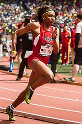 Penn Relays, USA vs the World, womens 4 x 400 meter relay, Jernail Hayes, USA