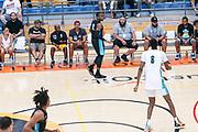 THOUSAND OAKS, CA Sunday, August 12, 2018 - Nike Basketball Academy. De'Vion Harmon 2019 #12 of John H. Guyer HS dribbles. <br /> NOTE TO USER: Mandatory Copyright Notice: Photo by John Lopez / Nike