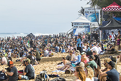 December 11, 2017 - Haleiwa, Hawaii, U.S. - Massive crowd already gathered for the openeing heats of Round One of the 2017 Billabong Pipe Masters at Pipe, Oahu, Hawaii, USA...Billabong Pipe Masters 2017. (WSL via ZUMA Wire/ZUMAPRESS.com)