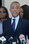June 30, 2012, Los Angeles, CA: Rev. Al Sharpton, President, National Action Network attends the Rodney King Funeral held at Forest Lawn Cemetery at Hall Liberty on June 30, 2012 in Los Angeles, California. Rodney Glen King was an American construction worker who became well known after being beaten harshly by Los Angeles police officers during a traffic stop on 3 March 1991. The non-gulity verdict of accused Police Officers ignited the LA Riots in 1992. (Photo by Terrence Jennings)