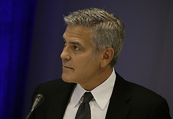 September 20, 2016 - New York, New York, United States of America - United States actor George Clooney attends a Private Sector Call to Action Leaders Summit for Refugees during the United Nations 71st session of the General Debate at the United Nations General Assembly at United Nations headquarters in New York, New York, USA, 20 September 2016..Credit: Peter Foley / Pool via CNP (Credit Image: © Peter Foley/CNP via ZUMA Wire)