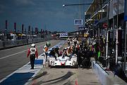 September 19, 2015: Tudor at Circuit of the Americas. #54 Bennett, Braun,  CORE Autosport Oreca pitstop