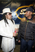 l to r: Melly Mel and Q-Tip at The OkayPlayer Hoiliday Jammy presented by OkayPlayer and Frank Magazine held at BB Kings on December 18, 2008 in New York City..The Legendary Roots Crew gives back to fans with All-Star line-up of Special Guests to celebrate upcoming Holiday Season.