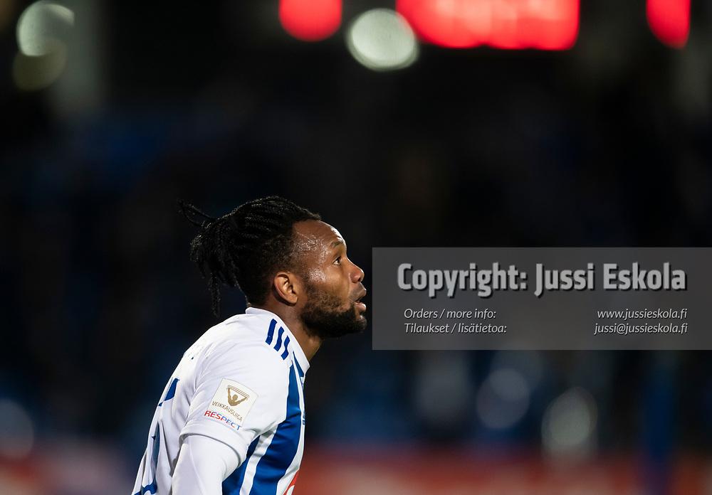 Luis Carlos Murillo. HJK - SJK. Veikkausliiga. Helsinki 3.10.2021. Photo: Jussi Eskola