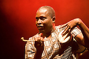 Nice (Cimiez), France. July 24th 2009. .One of Youssou N'Dour's musicians perform at the Nice Jazz Festival.