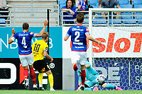 Fotball , Eliteserien<br /> 11.06.2021 , 20210611<br /> Vålerenga - Lillestrøm<br /> Lillestrøms Thomas Lehne Olsen scorer målet til 2-0<br /> Foto: Sjur Stølen / Digitalsport