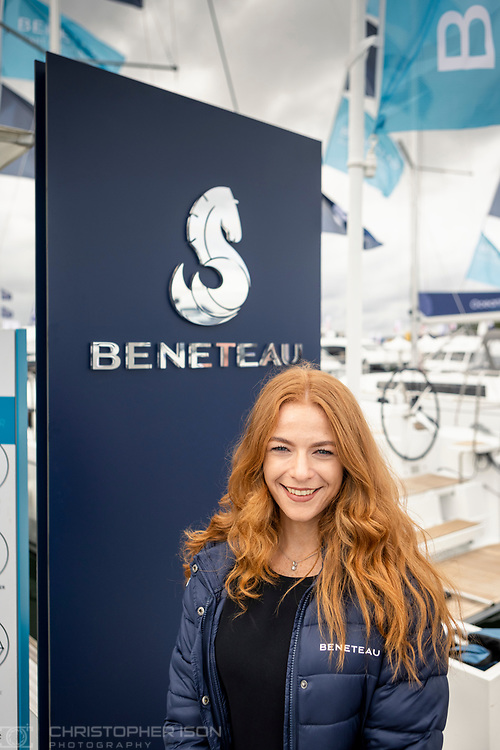Beneteau at the Southampton International Boat Show.<br /> Shot for Ancasta International.<br /> Picture date: Friday September 10, 2021.<br /> Photograph by Christopher Ison ©<br /> 07544044177<br /> chris@christopherison.com<br /> www.christopherison.com<br /> <br /> IMPORTANT NOTE REGARDING IMAGE LICENCING FOR THIS PHOTOGRAPH: This image is supplied to the client under the terms previously agree. No sales are permitted unless expressly agreed in writing by the photographer.