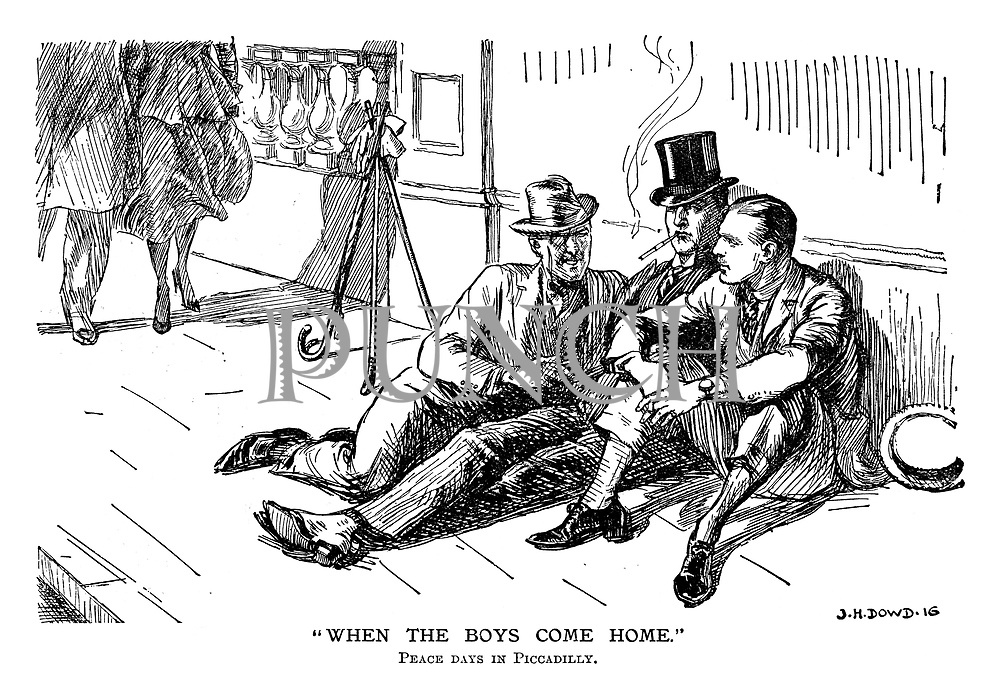 """""""When the Boys Come Home."""" Peace days in Piccadilly."""