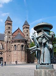Maastricht  church Saint Servaas Basiliek in Vrijthof square Vrijthof, The Netherlands
