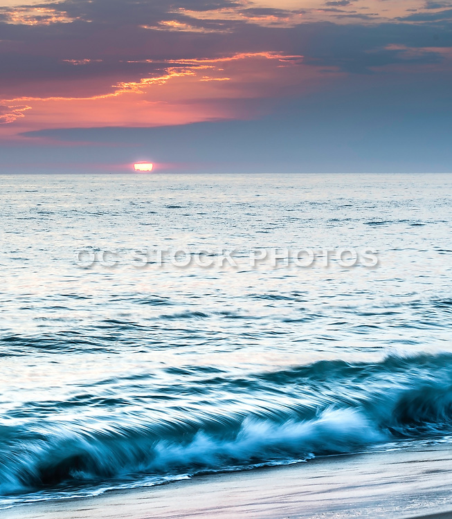 Tamarac Beach In Carlsbad At Sunset