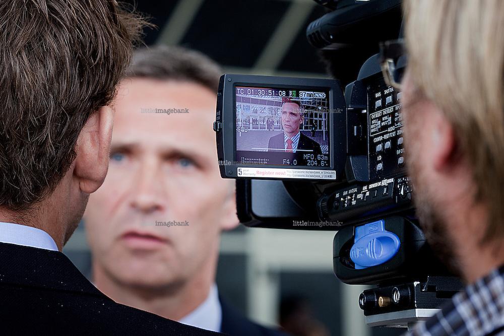Statsminister Jens Stoltenberg (AP) er i Etiopias hovedstad Addis Ababa / Addis Abeba i forbindelse med endelige møter i klimaforhandlinger i forkant av toppmøtet i Cancun i november 2010. Addis Abeba. 11.10.2010. Foto: Christopher Olssøn.