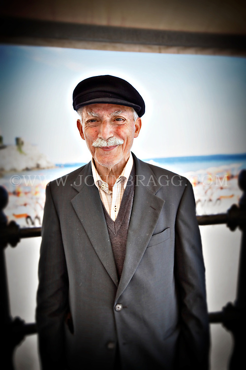 An elderly man in Amalfi, Italy.