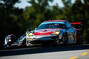 September 30-October 1, 2011: Petit Le Mans at Road Atlanta. 44 Darren Law, Seth Neiman, Marco Holzer, Porsche 911 GT3 RSR, Flying Lizard Motorsports