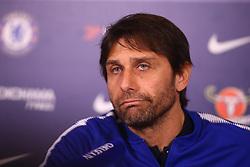 February 2, 2018 - London, England, United Kingdom - Antonio Conte, manager of Chelsea during a press conference at Cobham Training Ground on 02 Feb , 2018 in Cobham, England. (Credit Image: © Kieran Galvin/NurPhoto via ZUMA Press)