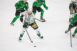 3# Hyyppa Panu of EC Bregenzerwald during the match of Alps Hockey League 2020/21 between HK SZ Olimpija Ljubljana vs. EC Bregenzerwald, on 09.01.2021 in Hala Tivoli in Ljubljana, Slovenia. Photo by Urban Meglič / Sportida