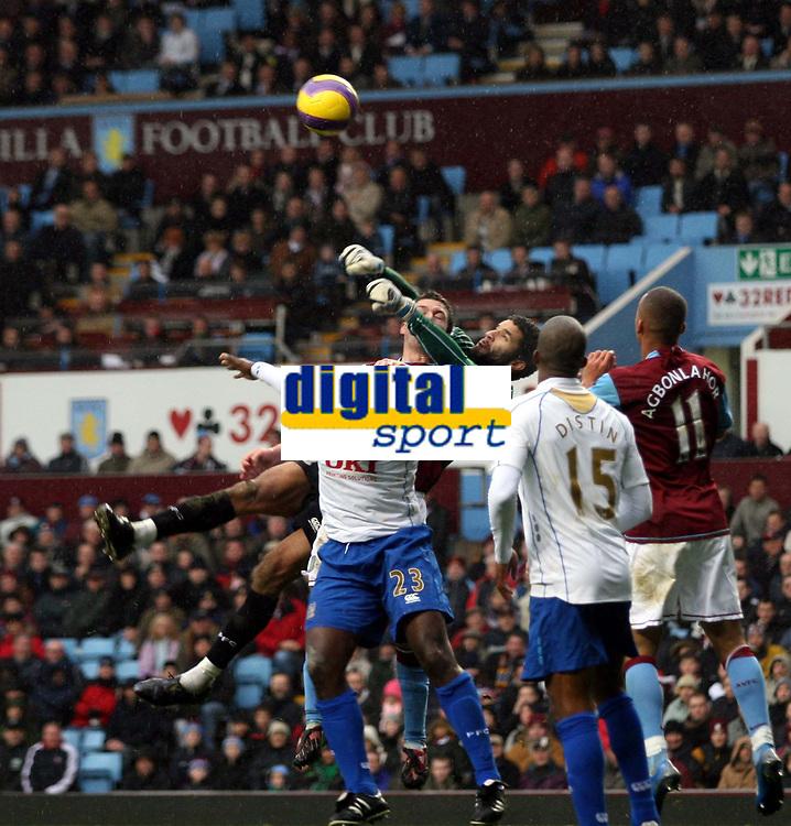 Photo: Mark Stephenson/Sportsbeat Images.<br /> Aston Villa v Portsmouth. The FA Barclays Premiership. 08/12/2007.Portsmouth's David James makes a good save