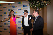 HEATHER KERZNER; HUGH GRANT; MATTHEW FREUD,  Masterpiece Midsummer Party in aid of Marie Curie hosted by Heather Kerzner. Chelsea Hospital. London. 2 July 2013.