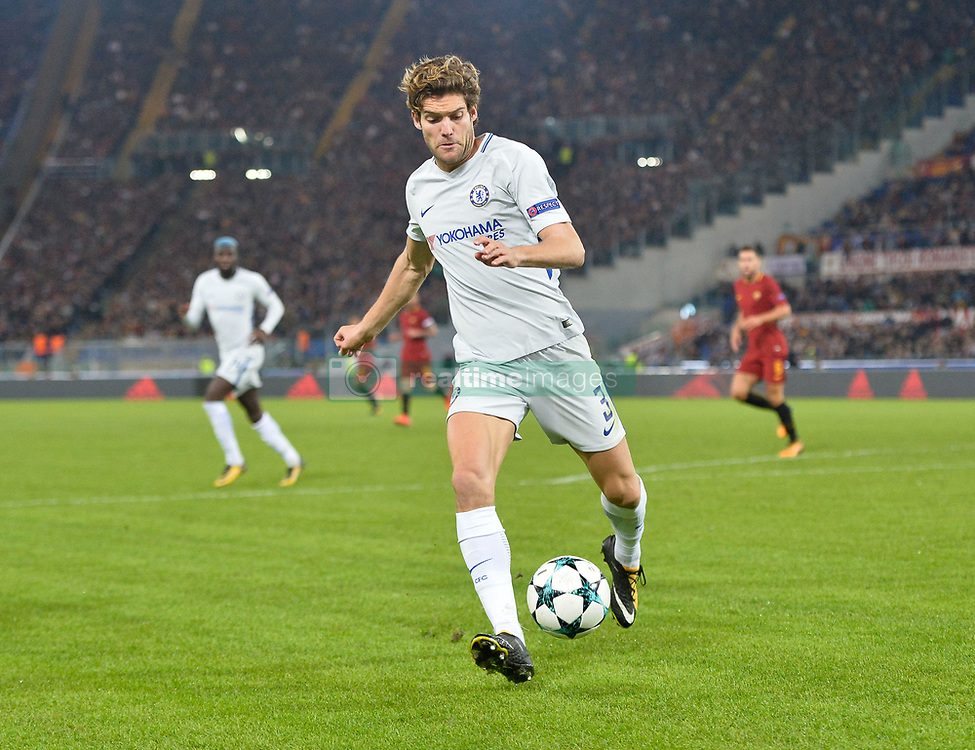 October 31, 2017 - Rome, Italy - Marcos Alonso during the Champions League football match A.S. Roma vs Chelsea Football Club at the Olympic Stadium in Rome, on october 31, 2017. (Credit Image: © Silvia Lore/NurPhoto via ZUMA Press)