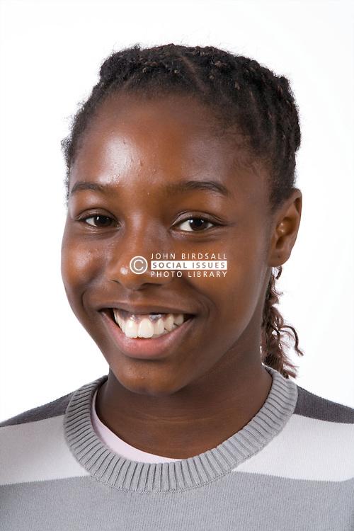 Teenaged girl smiling,